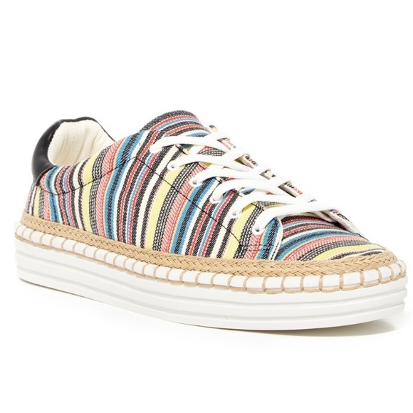 Sam Edelman Shoes - Sam Edelman Kavi Jute Multicolor Striped Sneakers